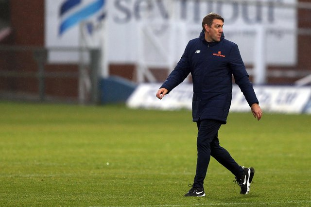 Hartlepool United manager Dave Challinor. (Credit: Christopher Booth | MI News)