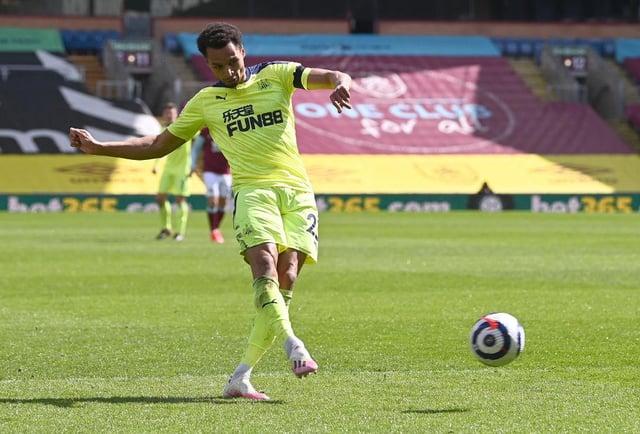 Newcastle winger Jacob Murphy.