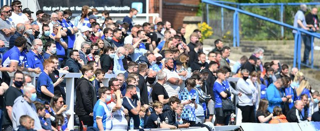 Hartlepool United fans return to Victoria Park. Picture by FRANK REID