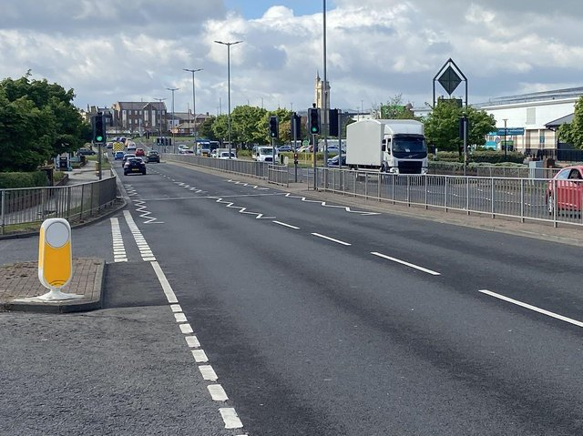 The incident is said to have happened on the A179 Marina Way, in Hartlepool.