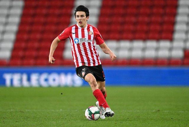 Luke O'Nien playing for Sunderland.