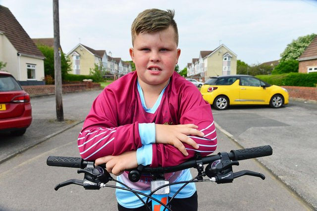 Mason Bowlt with his new bike.