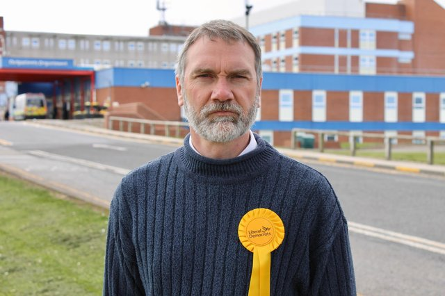 Andy Hagon is representing the Liberal Democrats in the May 6 Hartlepool by-election.