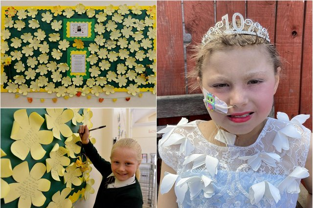 Pupils and staff at St Aidan's Primary School have paid a tribute to Keisha Watson, who passed away in March after a brave fight with leukaemia.