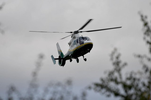 The Great North Air Ambulance was called in to help the North East Ambulance Service.
