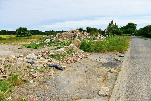 The Summerhill Lane site where the 14 Hartlepool houses could be built.