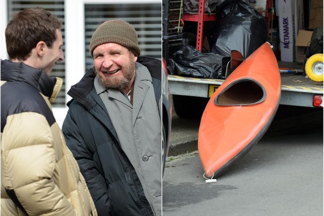 Eddie Marsan, with beard, plays John Darwin in a new ITV production of Darwin's deception in faking his own death in a 2002 canoeing accident.