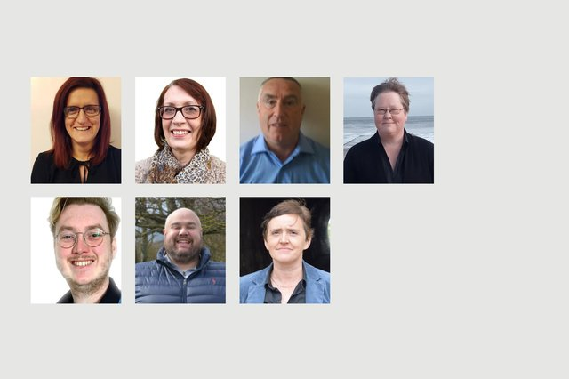 From left, the candidates in the De Bruce ward who submitted pictures. Top row, Rachel Creevy, Brenda Harrison, Peter Joyce and Karen King. Bottom row, John Leedham, Tony Traynor and Anne Waters.