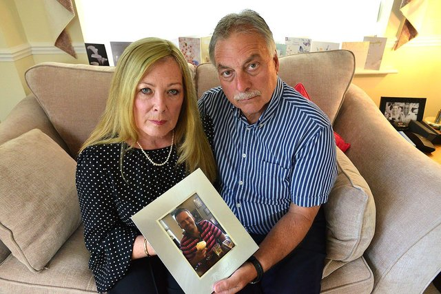 Pam and Bill Shurmer are trying to raise £2,000 to have defibrillators installed in the area where son Danny lived.