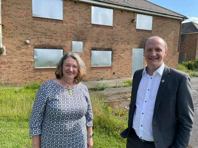 """Jill Mortimer MP and Councillor Shane Moore attended the site on Thursday afternoon. Mr Moore has said that Jill Mortimer MP  """"has taken a keen interest in this site since the by-election campaign""""."""