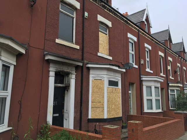 The scene of Tuesday's fire in Hartlepool's York Road.