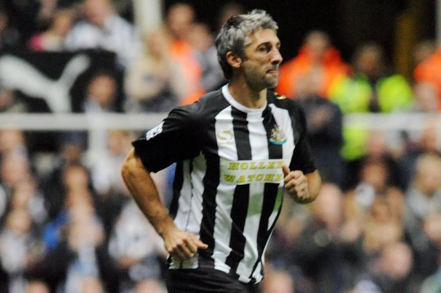 Former Newcastle striker Paul Kitson playing during a testimonial match at St James's Park.