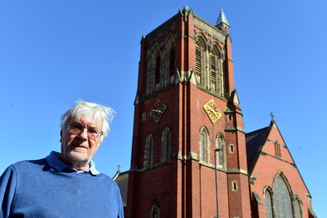 St Aidan's Church bellringer Andrew Frost ahead of a special bell tolling on Saturday in memory of Prince Philip.
