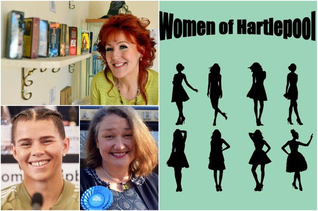 Entertainer Gina Pontoni, champion boxer Savannah Marshall and new MP Jill Mortimer will feature in the new book Women of Hartlepool.