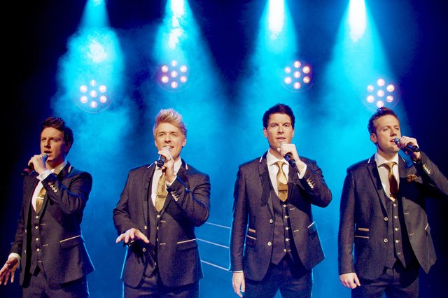 From left G4 comprising Lewis Raines, Jonathan Ansell, Mike Christie and Duncan Sandilands.