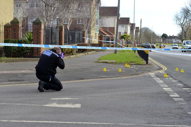 Police at the scene of the Hartlepool incidente on Monday morning.