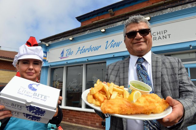 Darab Rezai, chairman of Hartlepool Licensees Association and owner of The Harbour View, at Hartlepool Marina, with staff member Chantelle Alton.