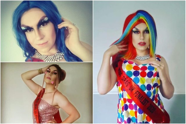 Anthony Layton appears as Celeste St Clair in shows and hopes to take the top title in Miss Drag UK.